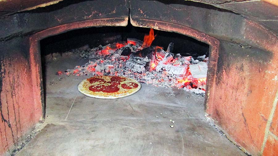 Pizza oven cooking